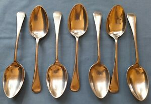 Set of 7 vintage Dixon Sheffield Firth Staybrite Spoons in Old English design