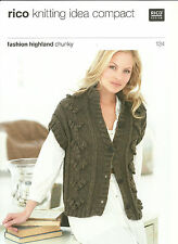 Rico ladies chunky gilet Knitting Pattern 134