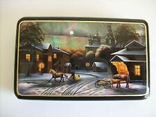 """""""Winter Evening"""" Lacquer Box with Natural Shell - Made in Russia"""