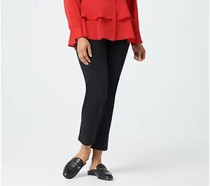 Joan Rivers Slim-Fit Twill Ankle Pants-Regular A373956-NEW
