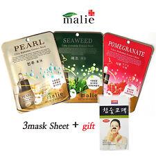 3pcs Malie Ultra Hydrating Essence Mask Sheet Korean Cosmetics Energetic Pack
