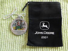 2001 John Deere Pewter Christmas Ornament #6 In The Series