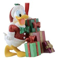 Authentic Disney Parks Donald Duck Presents Christmas Glitter Ornament
