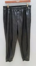 CLUB MONACO Vegan Leather Pants Size 8/XS Jogger Style Party Pleather PU Womens