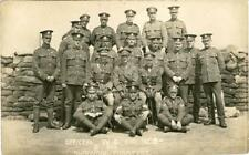 REAL PHOTOGRAPHIC POSTCARD OF OFFICERS, W.O. & N.C.O. B COY, SHERWOOD FORESTERS