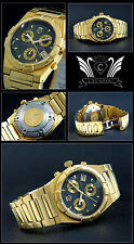 Men's/Chronograph Pure Luxury IP Gold Plated, Face M. Roman Number