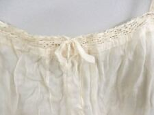 Antique Vtg 1920s White Cotton Lawn Slip Trousseau Never Worn Peg Hanger