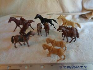 Marx playset horses 1950s vintage + Processed Plastic?