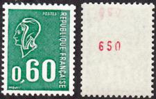 "FRANCE STAMP TIMBRE 1815 b "" MARIANNE BEQUET 60c VERT NUMERO ROUGE "" NEUF xx TTB"