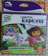 Leap Frog Leapster Explorer Dora the Explorer Learning Game New & Sealed