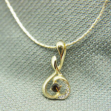 14k Gold Plated Swarovski Elements Crystals Melody Pendant Necklace