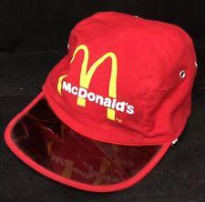Vtg McDonalds Kids Hat See Through Bill Restaurant Advertising Cap Red 1983 Corp