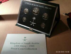 Saudi Arabia 5 Coins Proof 1988 (1408)