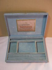Crushed Velvet Lined T* Wittnauer Vintage Jewelry Box