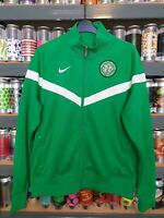 Nike Celtic Football Club Mens Medium Tracksuit Top Retro Green Scottish Rare