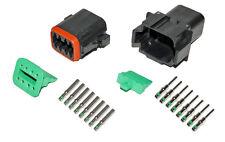 Deutsch DT 8 Pin Black Connector Kit 14 GA Solid Contacts