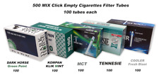 500 Mix Click Ball Capsule Empty Cigarette Filter Tubes 5x100 one of each