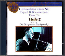 Jascha Heifetz: Castelnuovo-Federica Ferguson Khachaturian Francaix RCA CD Violin