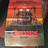 Original One Sheet from USA for Critters from 1986. Condition: Fine Tri-fold