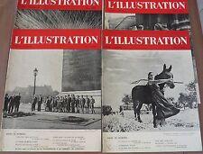 4 L' illustration 1940: Mers el Kébir, ravitaillement de Paris,   n° 5084 à 5087