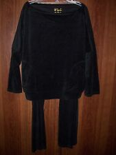 VICTORIA'S SECRET, WOMEN'S TRACKSUIT, BLACK, TOP & MATCHING PANTS,SZ LARGE