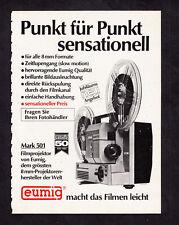 3w2746/Ancienne Publicité de 1969-EUMIG 8-mm - Projecteur Mark 501
