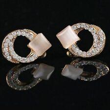 Rhinestone Alloy Beauty Costume Earrings