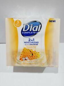 One 3 - Bar Pack Dial 2 in 1 Moisturizing and Antibacterial Manuka Honey