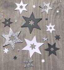 Stanzschablone/ Cutting dies Stern Sterne xmas 3er Set mit prägender Naht