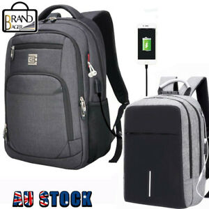 Men Women Laptop Backpack Business Travel College School Bag USB Charging Port