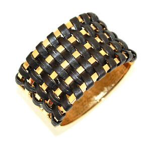 BRACELET femme or doré noir métal rigide à l'esclave pulseira tressé BB50