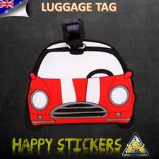 Cartoon Vehicle VW Car Travel Luggage Baggage School Suitcase Bag Label Tag