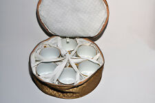 Ceralene A Raynaud et Cie Limoges  (6) Cups gold embossed in padded case