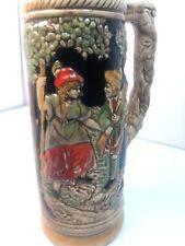 "Vintage 10 1/2"" Authentic German Stein Embossed Handcrafted"