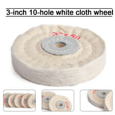 5Pcs 3'' Soft Cotton Cloth Buffing Wheel Polishing Pad For Bench Grinder 50Ply