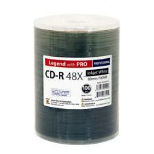 100 CD-R Legend with Pro Taiyo Yuden TY White Inkjet Hub Printable Blank Disc