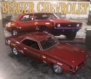 GMP G1800325 Chevrolet 427 SS Camaro 1969 Berger Chevrolet Drag Car - 1:18 Scale