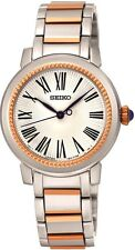SEIKO SRZ448P1 Stainless Steel & Rose Gold Plated WR50 2 Year Guarantee RRP £199