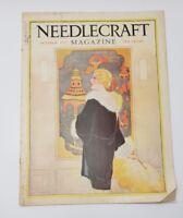 NEEDLECRAFT MAGAZINE OCTOBER 1928 ART DECO WOMAN & ASIAN ART COVER