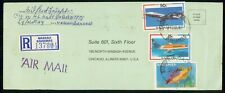 BAHAMAS COMMERCIAL 1987 COVER NASSAU REGISTERED AIR MAIL
