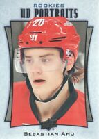 2016-17 Upper Deck Hockey UD Portraits #P-101 Sebastian Aho Carolina Hurricanes