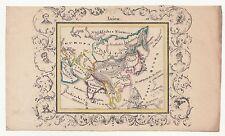 Lithografie Landkarte Asien um 1820 koloriert & verziert dekorativ