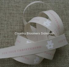 Berisfords R1414215   for Your Christening Ribbon 20m X 15mm Pink