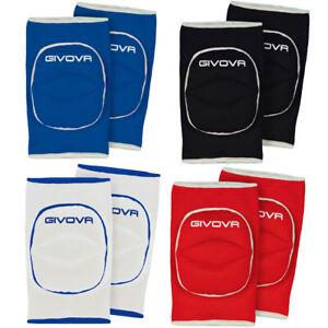 Givova Light Volleyball Training Sport gepolsterter Knieschoner GIN01 blau neu