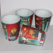 Lego Movie 4 x 3D Lenticular McDonalds Cups  (Lord Business)