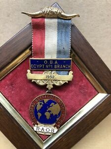 R.O.A.B Egylt No1 Branch 1952 Buffaloes Medal And Ribbon