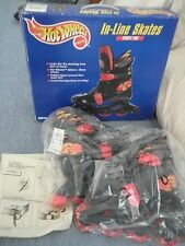 Mattel Hot Wheels In-Line Roller Skates- Youth size 12J: 1998 Street Fire orig.