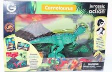 Jurassic Action CARNOTAURUS action figure Geoworld dinosaur #7 +card in Package