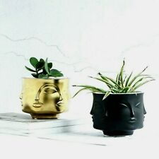 Human Face Flower Nordic Ceramic Art Vase Home Table Decor Hand Craft Pot