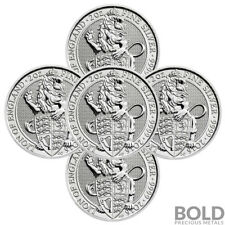 2016 Silver Great Britain Queen's Beasts (The Lion) - 2 oz (5 Coins)